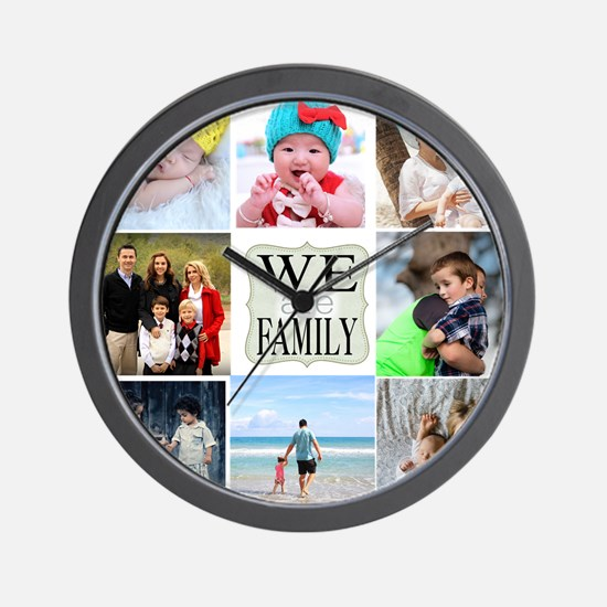 Custom Family Photo Collage Wall Clock