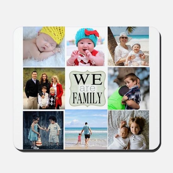 Custom Family Photo Collage Mousepad