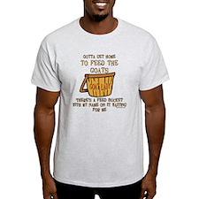 Goat Feed Bucket Goat Lady T-Shirt