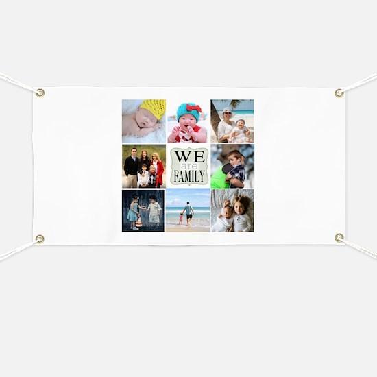 Custom Family Photo Collage Banner