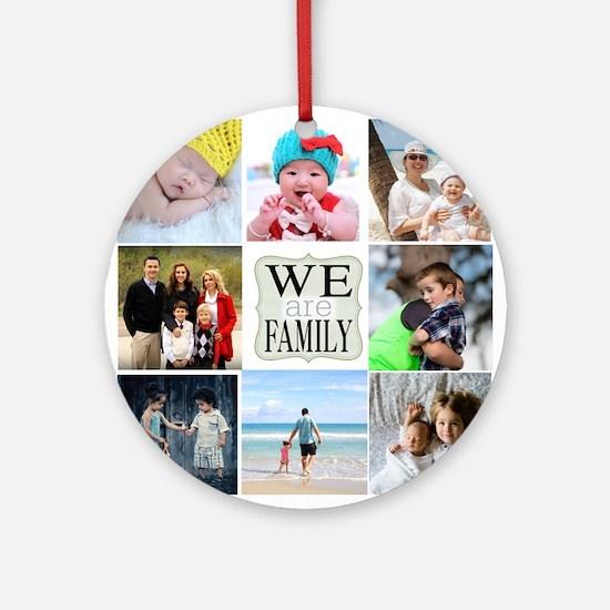 Custom Family Photo Collage Round Ornament