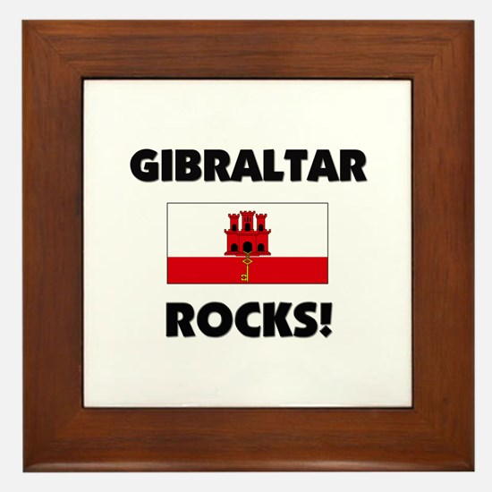 Gibraltar Rocks Framed Tile