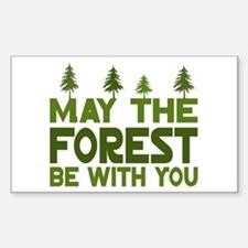 May the Forest.. Rectangle Stickers