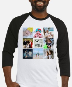 Custom Family Photo Collage Baseball Jersey