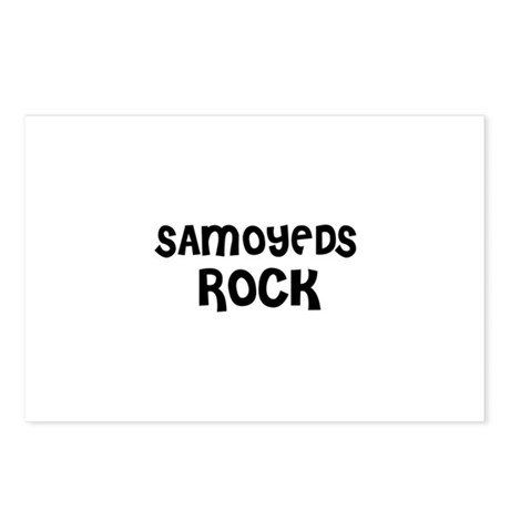 SAMOYEDS ROCK Postcards (Package of 8)