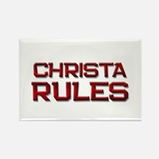 christa rules Rectangle Magnet