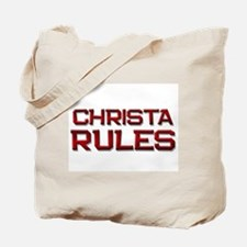 christa rules Tote Bag