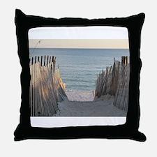 Pathway to Seaside Beach Throw Pillow