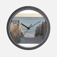 Pathway to Seaside Beach Wall Clock