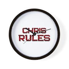 chris rules Wall Clock