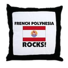 French Polynesia Rocks Throw Pillow