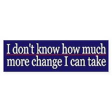 Funny Political Change Bumper Sticker