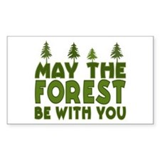 May the Forest.. Rectangle Decal