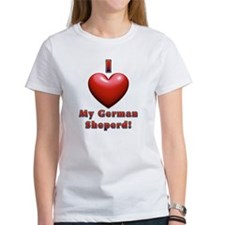 I Heart My German Sheperd! Tee