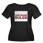 cheyenne rules Women's Plus Size Scoop Neck Dark T