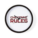 cheyenne rules Wall Clock