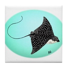 Spotted Eagle Ray Tile Coaster