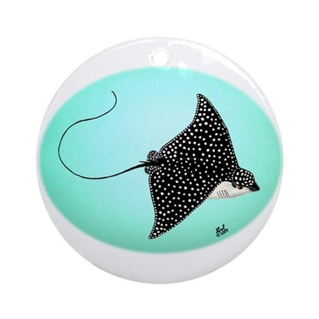 Spotted Eagle Ray Ornament (Round)