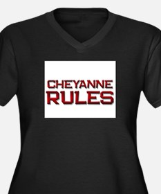 cheyanne rules Women's Plus Size V-Neck Dark T-Shi