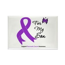Pancreatic Cancer Son Rectangle Magnet