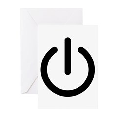 Power Switch Greeting Cards (Pk of 20)