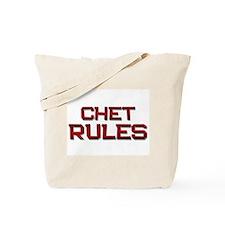 chet rules Tote Bag