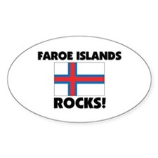 Faroe Islands Rocks Oval Decal