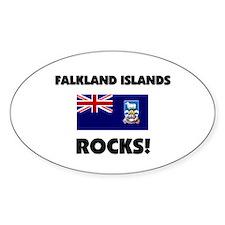 Falkland Islands Rocks Oval Decal