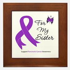 Pancreatic Cancer Sister Framed Tile