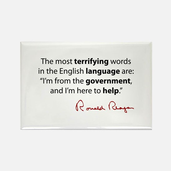 Reagan Quote Rectangle Magnet