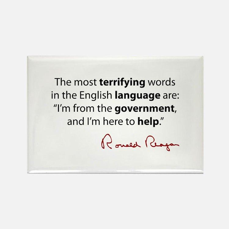 Reagan Quote Rectangle Magnet