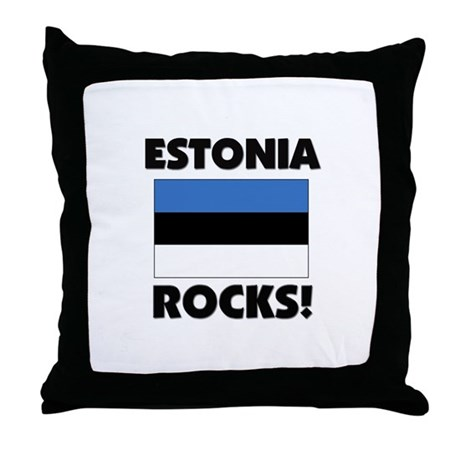 Estonia Rocks Throw Pillow