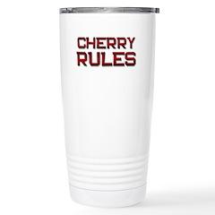 cherry rules Stainless Steel Travel Mug