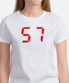 57 fifty-seven red alarm cloc Tee