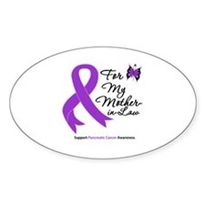 PancreaticCancer MotherInLaw Oval Decal