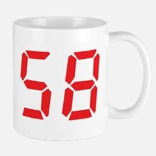 58 fifty-eight red alarm cloc Mug