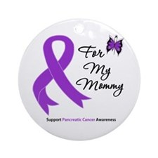 Pancreatic Cancer Mommy Ornament (Round)