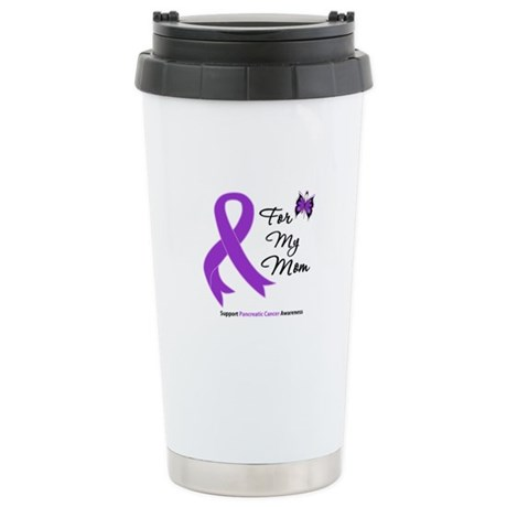 Pancreatic Cancer Mom Stainless Steel Travel Mug