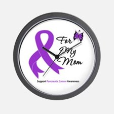 Pancreatic Cancer Mom Wall Clock