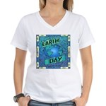 Earth Day 2 Women's V-Neck T-Shirt