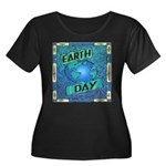 Earth Day 2 Women's Plus Size Scoop Neck Dark T-Sh