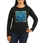 Earth Day 2 Women's Long Sleeve Dark T-Shirt