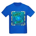 Earth Day 2 Kids Dark T-Shirt