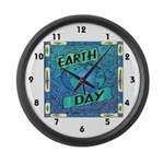 Earth Day 2 Large Wall Clock