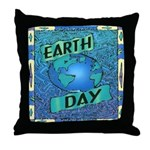 Earth Day 2 Throw Pillow