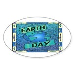 Earth Day 2 Oval Sticker