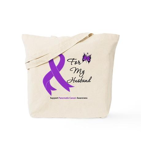 Pancreatic Cancer Husband Tote Bag