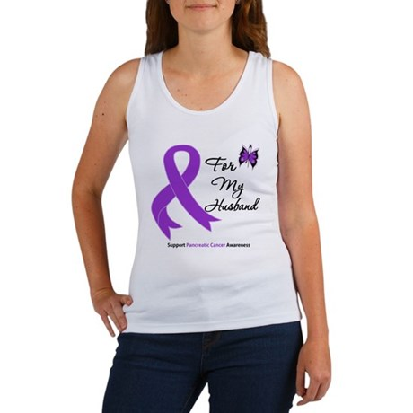 Pancreatic Cancer Husband Women's Tank Top
