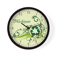Michigan Recycle T-Shirts and Gifts Wall Clock