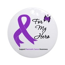 Pancreatic Cancer Hero Ornament (Round)